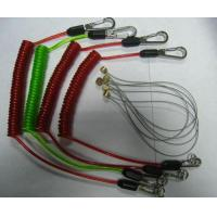 Tool lanyard flex coil cable with custom different colors rubber coated strong leashes