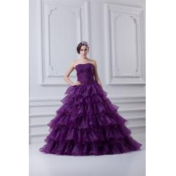China Chic Strapless Organza Quinceanera Party Dresses with Beads for Young Girls on sale