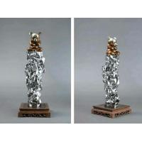 stainless steel sculpture for artist ,mirror finish ,China stainless steel Sculpture supplier