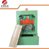 Standard Style Color Steel Roll Forming Machine , Roof Ridge Cap Roll Forming Machine