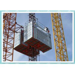China 2 Ton Twin Cage Construction Hoist Elevator Rental For Building on sale