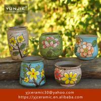 Home decoration flowers small plant art handmade ceramic planter