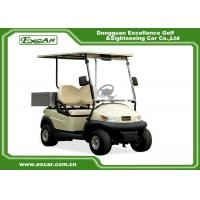 2 Seater AC Motor Electric Golf Car 48v Trojan Battery , Electric Hotel Buggy Car