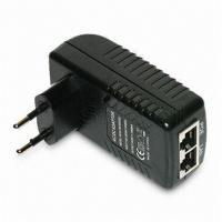 Wall Mounted 48V 0.5A POE Adapter EU / US / plug 24W AC Power Adapter RJ45