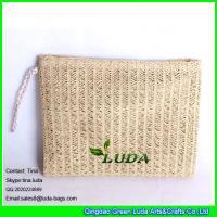 LUDA Clutch Purse Bag Evening Shoulder Coated Straw Envelope Paper Straw Handbag