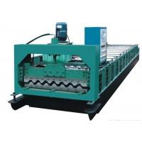Colored Steel Roof Panel Roll Forming Machine Producing 750mm Width Tiles