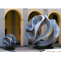 Modern Art Outdoor Stainless Steel Sculpture For Garden , Hollow Ball Design
