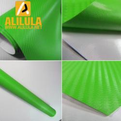 China Green 3D Carbon Fiber Vinyl Car DIY Wrap Sheet Roll Film Sticker Decal on sale