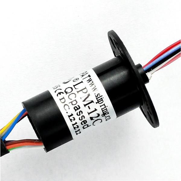 China Cable Reel Miniature Slip Ring , Long Life 12 Circuits Rotary Electrical Interface , Reliable Rotation supplier