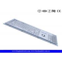 Industrial Kiosk Computer Metal Keyboard With Panel Mount Function Keys