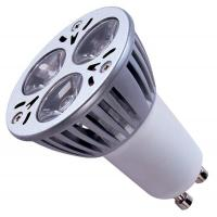 GU10 / GU5.3 AC100 - 240V / 50 - 60Hz, 12VAC / DC White Ceramic LED Spot Bulb Lamps