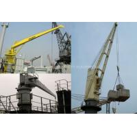 telescopic boom ship deck crane hydraulic marine deck crane