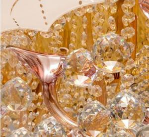 Rectangle crystal ceiling light graceful glass LED ceiling lamp made in  India