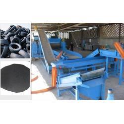 rubber tire mulch machine