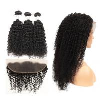 Natural Color Kinky Curly Hair Extensions Human Hair For Black Women