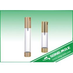 China Silver Gold Pump Airless Bottle Airless Bottle 50ml 30ml 15ml on sale