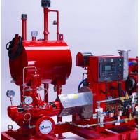 Horizontal Split Case Centrifugal Pump , SS Red Diesel Engine Pump For Fire Fighting