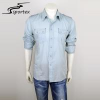Fashion Mens Fitted Shirts Casual , Casual Shirts For Men Anti Pilling