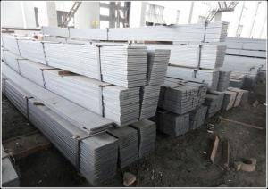 China Cutting Available Black / Galvanized Flat Bar with Flat Surface Square Edge supplier