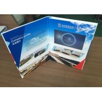 Custom active Paper material 4.3inch TOUCH SCREEN video book video brochure for company presentation