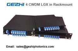 China Módulo passivo de CWDM Mux Demux 8CH pela caixa de 4pcs LGX em um 19 1U Rackmount fornecedor