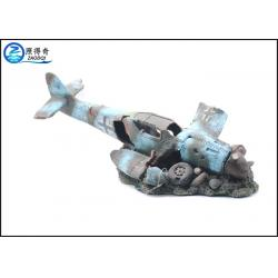 Black blue cool fish tank decorations helicopter wreck for Cool fish for sale