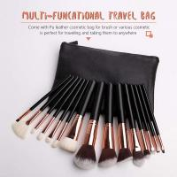 OEM Luxury professional 15 pcs synthetic hair 3D full face makeup brush set