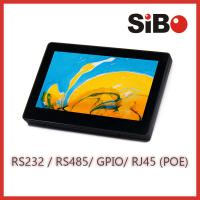 Wall Mountable 7 Screen Size Android Touch Panel With POE Temperature Sensor