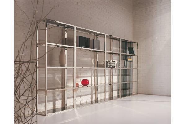 estantes de cristal montados en la pared muebles de cristal de studyroom del estante para libros del metal