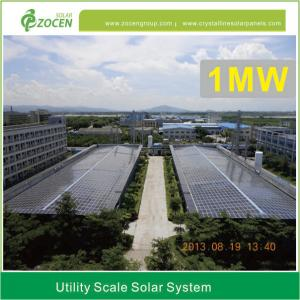 1mw Utility Scale Solar Power Plant Accurate Mounting 110v