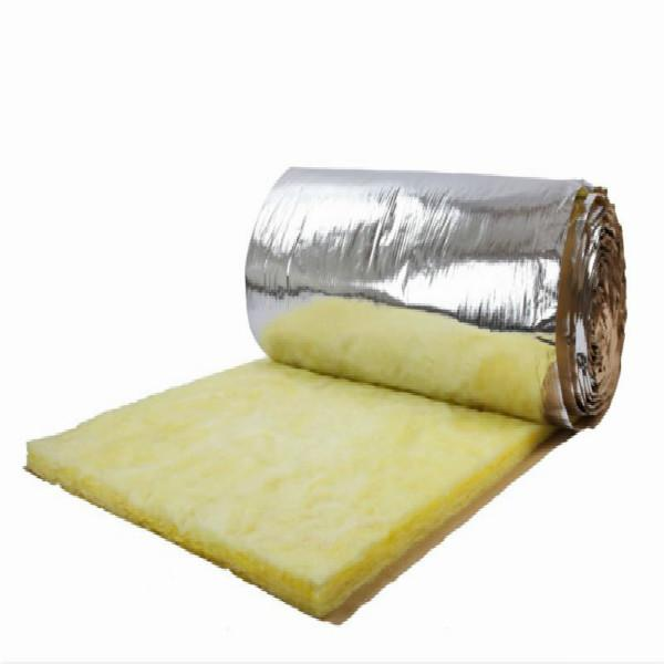 Heat insulation glass wool blanket with for for Glass wool insulation