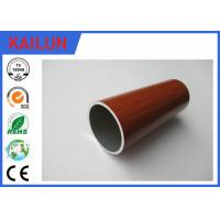 Home Decoration 30 mm Extruded Aluminium Tube With Wood Grain Painted Treatment