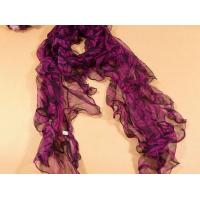 Ladies 2013 new Fashion 100% pure silk Scarf/purple and pink scarves for women