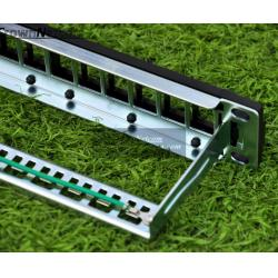 China 12ports blank patch panel for cat.5e/cat.6 keystone modules 10 Inch Rack Mount Panels on sale