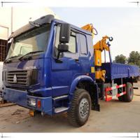 sinotruk knuckle boom truck mounted crane