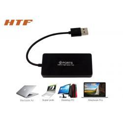 China Laptop PC USB 2.0 4 Port USB HuB Splitter , Multiple USB Port Adapter High Speed on sale