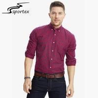 Checkered Men'S Printed Casual Shirts , Mens Casual Long Sleeve Shirts Slim Fit