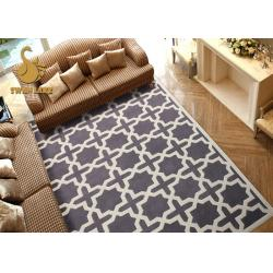 China Swan Lake Modern Living Room Area Rugs , Family Room Area Rugs Easy Clean on sale