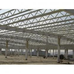 China Q345 Steel Structure / V Brace Metal Truss Buildings With Welded / Hot Rolled H-beam on sale