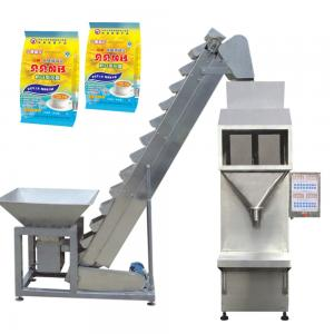 Electric Semi-Automatic Packing Machine For Nuts Beans / Granule , Silver Color