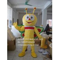 customized boy butterfly mascot costume/customized fur insect mascot costume