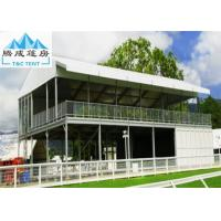 Aluminum Frame Outdoor Party Exhibition Double Decker Tent Cube Structure With White PVC Roof Cover