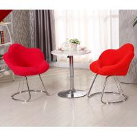 Commercial Modern Metal Chairs , Antique Upholstered Dining Chairs With Metal Legs