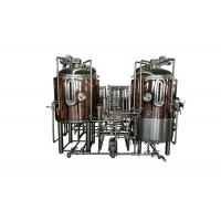 Red Copper Brewpub Equipment 500L Automatic Controlling With Electricity Heating