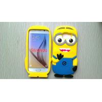 Yellow Minion Samsung Galaxy S6 cover for G9200 , Engranved silicone protective case