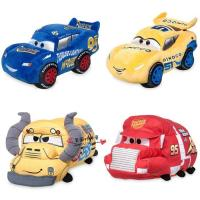Red Original Disney Roadster Racers Cars Toys 3 Stuffed Cartoon Plush Toys For Baby Playing