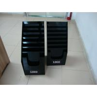 Wall Mounted Brochure Holders , Black Acrylic Stationery Holder with 7 Tier