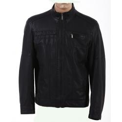 China Black European Casual and Stylish Mens Designer Leather Jackets , Casual Jackets on sale