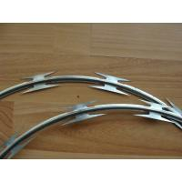 BTO-22 BTO-28 hot dipped galvanized razor barbed wire green gray PE coating razor barbed wire