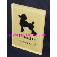 Custom made branding advertising solid acrylic block wholesale